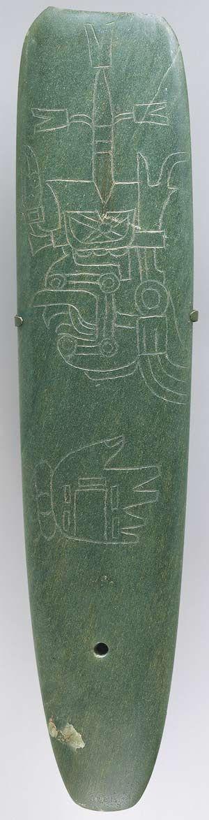 Incised Celt  10th–6th century b.c. [Mexico; Olmec] (1978.412.5) | Heilbrunn Timeline of Art History | The Metropolitan Museum of Art