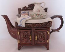 Cardew Novelty Teapot Large Victorian Wash Stand Signed Limited Numbered c.1994