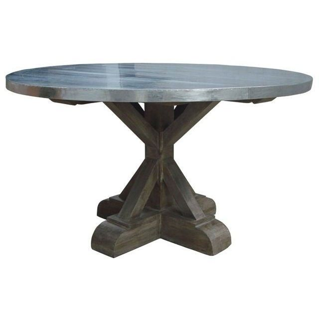 Charming Designing Spaces Places   Berlin Industrial Round Dining Table With Zinc Top,  $2,495.00 (http