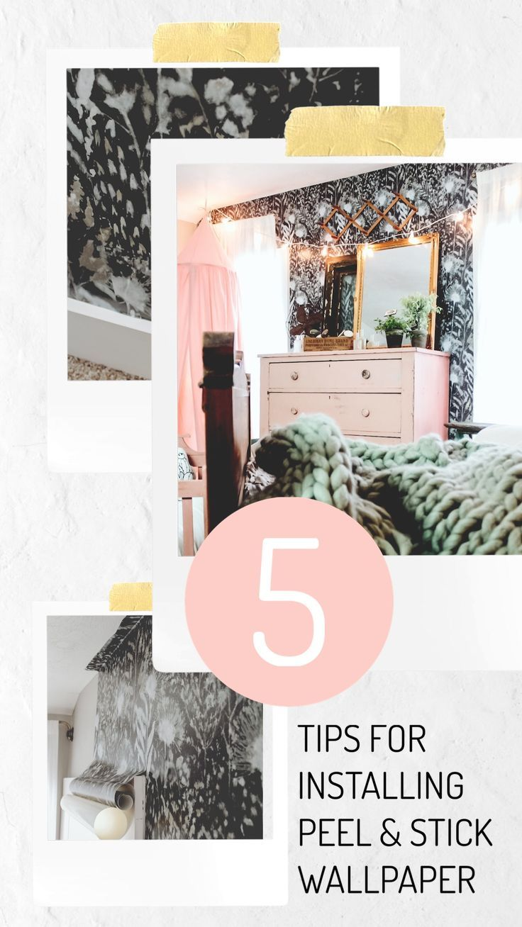 5 Tips For Installing Peel Stick Wallpaper Two Paws Farmhouse Peel And Stick Wallpaper Decor Home Diy