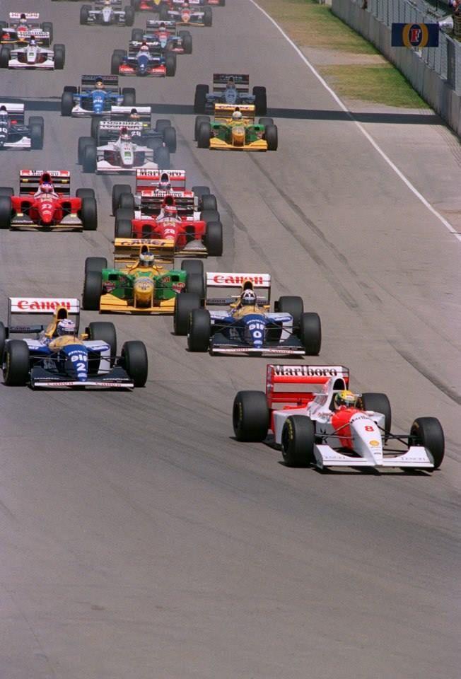 Ayrton Senna - McLaren MP4/8 Ford Cosworth HB - Marlboro McLaren - LVIII Australian Grand Prix - 1993 FIA Formula 1 World Championship, round 16
