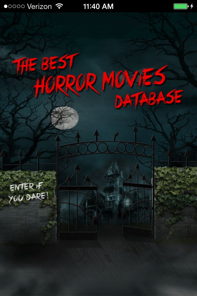 "The Best Horror Movies Database App: Two horror libraries of only the top rated horror movies of all time. Always updated. Searched by year, decade, actor, director, writer, or keywords such as footage, haunted, witch, zombies, monster, gore, slasher, ""home invasion"", aliens, comedy and more. Check it. iOS: https://itunes.apple.com/us/app/best-horror-movies-database/id668500290?mt=8 Android: https://play.google.com/store/apps/details?id=com.besthorrormovies #horrormovies #ios #android #apps"