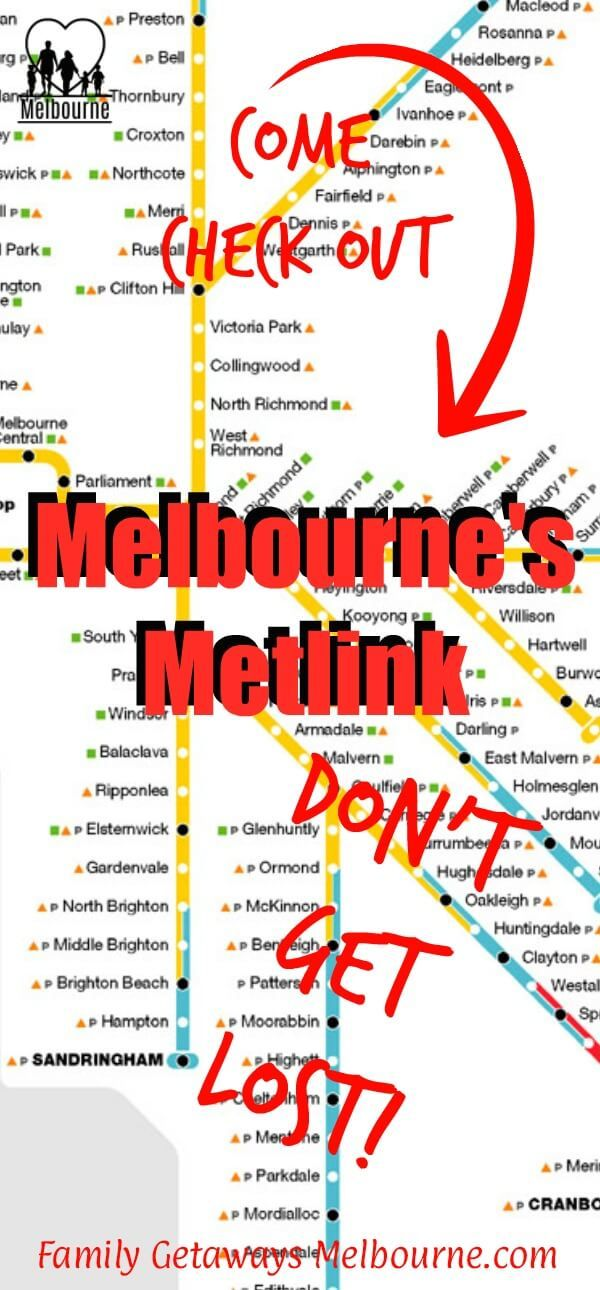 Information on Melbourne's Metlink. Public Transportation in and around Melbourne and how to use it. Click the image for more details.
