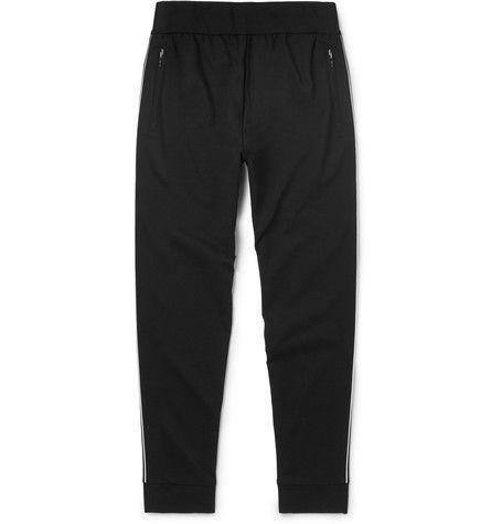 PRADA Slim-Fit Contrast-Trimmed Tech-Jersey Sweatpants. #prada #cloth #sweats