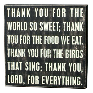 Bedtime or dinner prayer for kids..makes a great sign for a kids room or nursery!