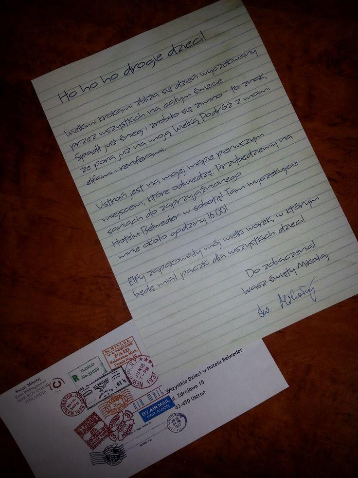 Właśnie dostaliśmy list od świętego Mikołaja! :D