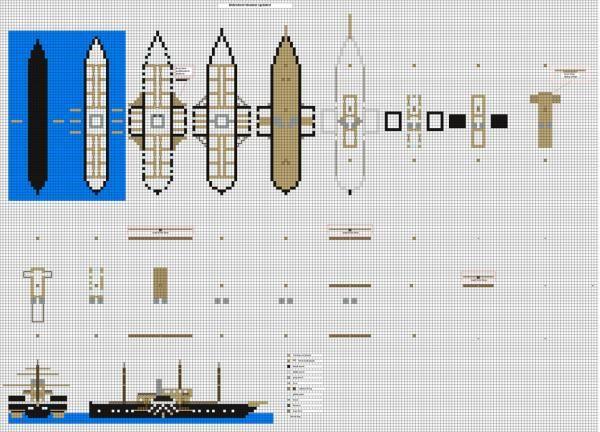 Minecraft ship blueprints google search minecraft for Final fortress blueprints