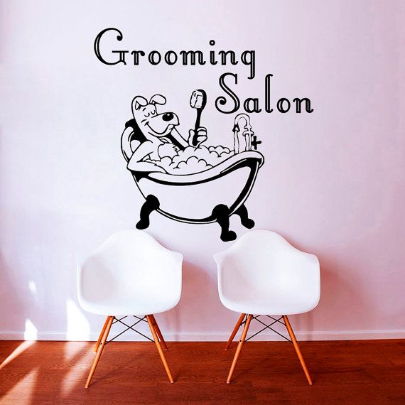 Wall Decals Grooming Salon Decal Vinyl Sticker Dog Pet Shop Home Decor Interior Design Bedroom Window Hall Art Mural Ah8