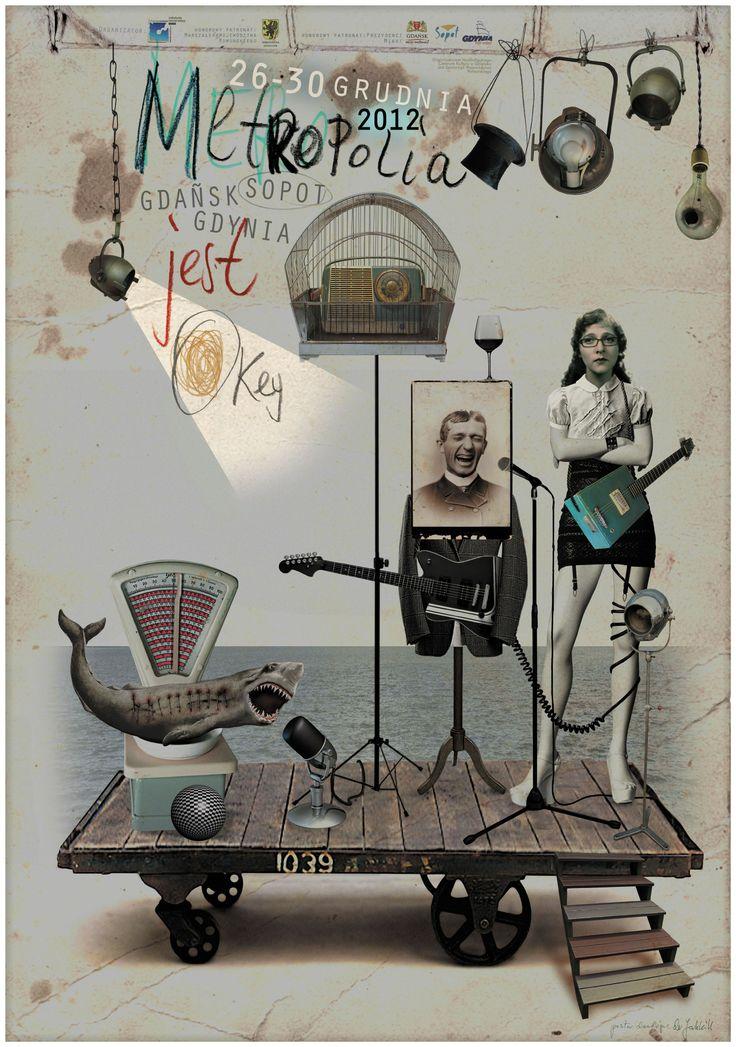 Plakat promujący 6. Festiwal Metropolia Jest Okey.   www.facebook.com/MetropoliaJestOkey  Autor: Jacek Staniszewski