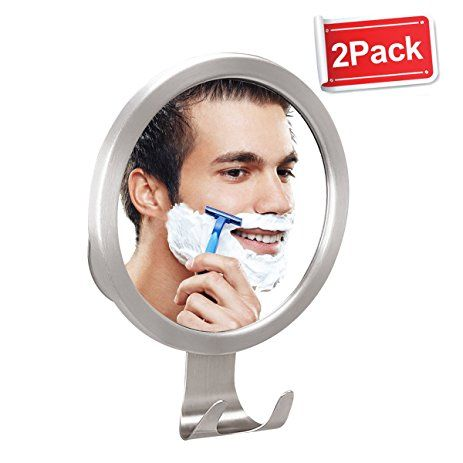 Shower Mirror Fogless, M-Better Antifog Bathroom Wall Shaving Mirror with Strong Suction Cups Razor Holder No Fog Mirror for Shave Makeup (2 Set) Review