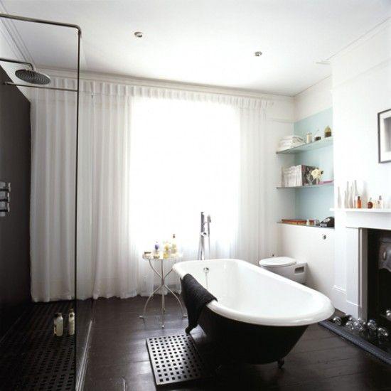 28 besten Bad Bilder auf Pinterest Accessoirs, Atelier und - badezimmer schwarz weiß