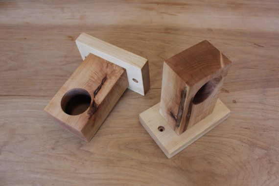 modern wood curtain rod holders by ninosheadesign on Etsy