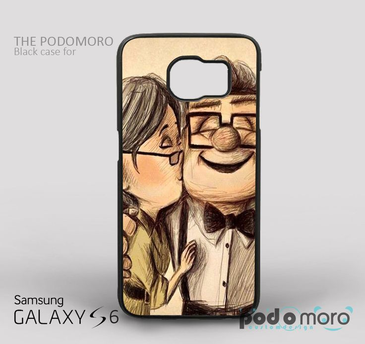 Disney Up Carl and Ellie Kiss Love for iPhone 4/4S, iPhone 5/5S, iPhone 5c, iPhone 6, iPhone 6 Plus, iPod 4, iPod 5, Samsung Galaxy S3, Galaxy S4, Galaxy S5, Galaxy S6, Samsung Galaxy Note 3, Galaxy Note 4, Phone Case