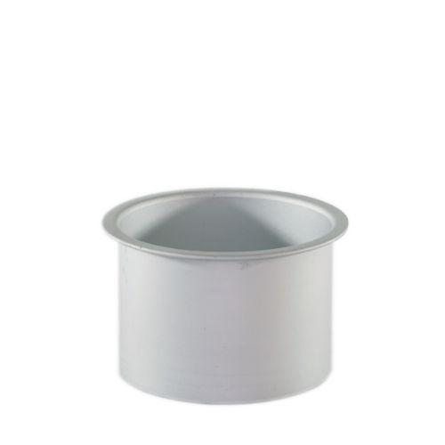 ベビーワックスヒーターヒーター用のアルミカップです。  直径 : 約 8.7 cm 高さ : 約 5.4 cm 容量 : 225g