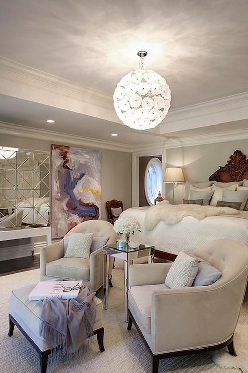 Elizabeth kimberly design bedrooms elegant bedroom - Bedroom sitting area furniture ideas ...