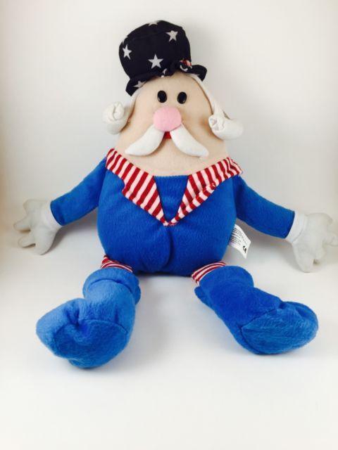 "Kellytoy Plush Goes Americana Old Man American Flag 15"" Stuffed With Tags | eBay"