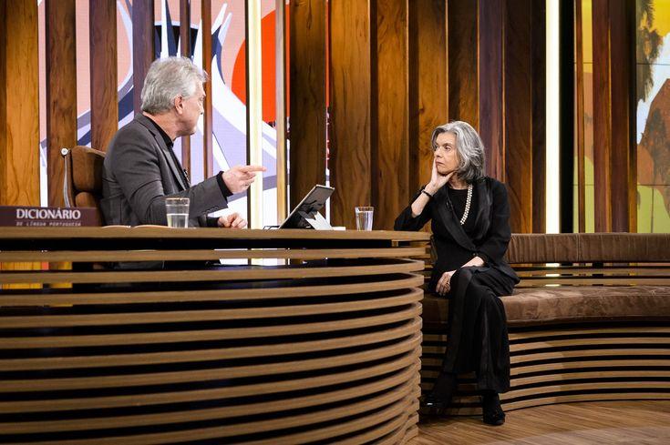 Pedro Bial recebe a Presidente do Supremo Tribunal Federal (STF) e do Conselho Nacional de Justiça (CNJ) na estreia do 'Conversa com Bial'