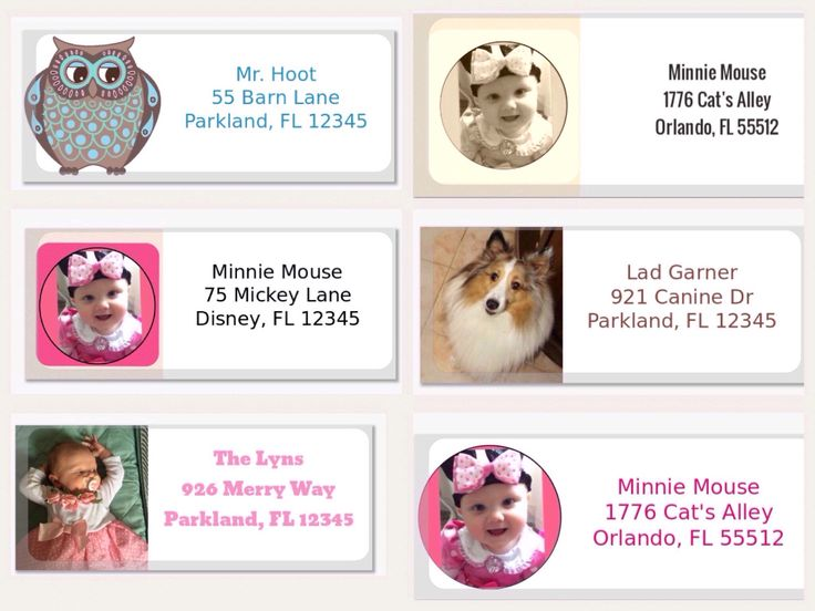Personalized ADDRESS LABELS (60) customize your Photo/LOGO - Baby Child Pet Family Sellers - Scrapbook Seals Decorate Return Envelopes by pegstreasure on Etsy https://www.etsy.com/listing/521860090/personalized-address-labels-60-customize