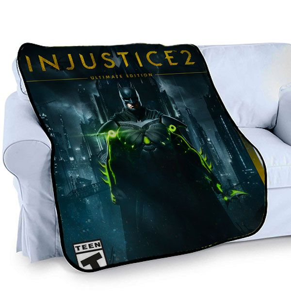 awesome INJUSTICE 2 BATMAN PS4 GAME Printed Photo Throw Bed Fleece Blanket