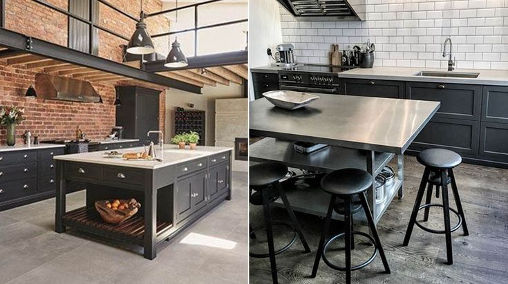 Industrial chic kitchens