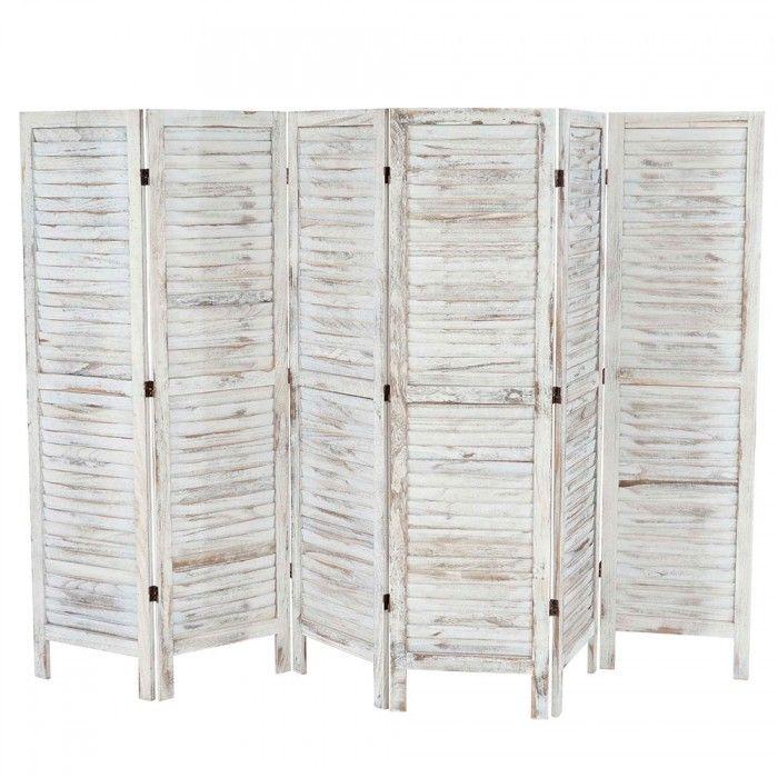 white wooden room divider 170 x 276 x