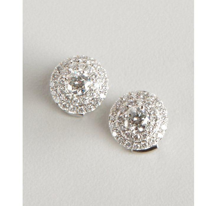 Tiffany & Co. Tiffany & Co diamond and platinum 'Soleste' stud earrings