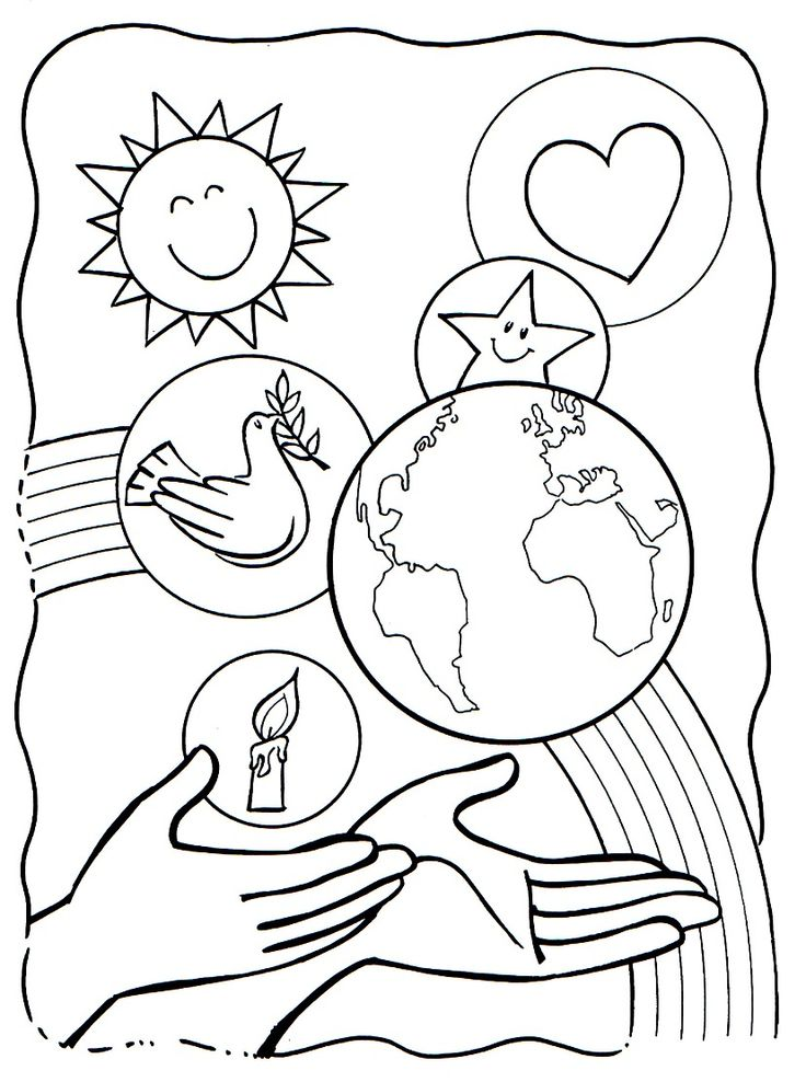 coloring pages creation story - photo#17