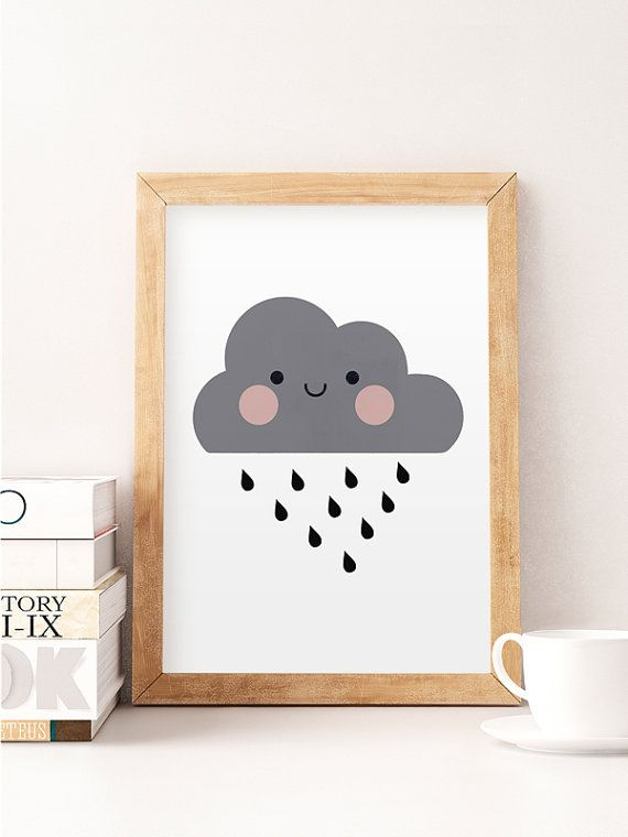 Cute cloud print, Nursery print, Nursery wall art, Cute art, Kids room art, Art for kids, Home decor, Cute, Little cloud, Minimalist nursery  Printed on Canson 270gsm satin, acid-free paper.  Available sizes:  A4 / 210 x 297 mm / 8.3 x 11.7 in A3 / 297 x 420 mm / 11.7 x 16.5 in A2 / 420 x 594 mm / 16.5 x 23.4 in  All prints are sent in a sturdy cardboard tube with tracking code.  Colors might be slightly different due to different screen color settings.  Frame is not included.   Thank you
