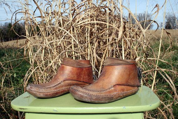 Handmade Moccasins Brown Leather Chukka Boots Unisex Men