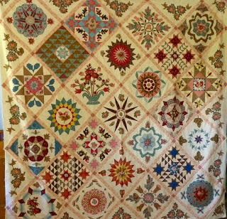 Secret Sewing Sisterhood: Ann's Antique Wedding Sampler revisited by Di Ford