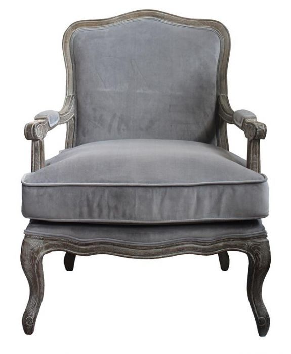 LOUIS ARMCHAIR - Grey Velvet