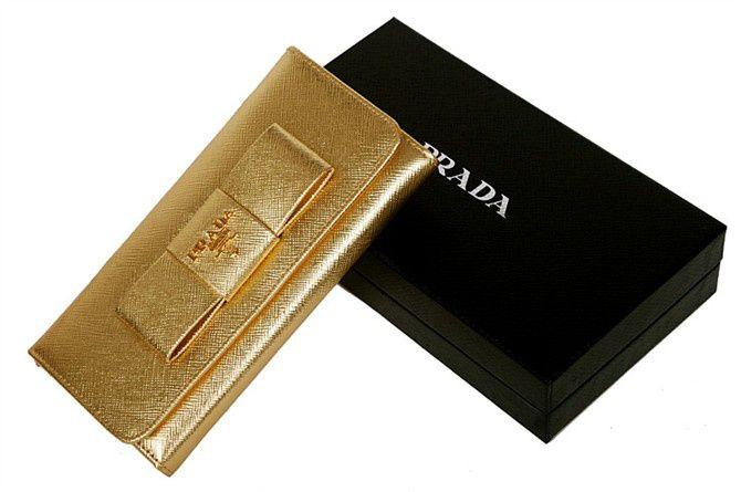 prada black nylon wallet - gold leather wallets for women | ... Wallets Sale \u0026gt; Prada Women ...