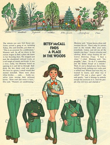 """I just love the vintage girl scout paper doll! But sadly, """"vintage"""" means """"when I was a Girl Scout""""!"""
