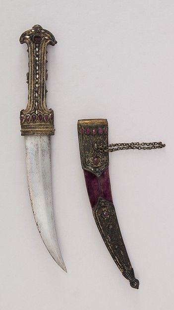 Dagger (Jambiya) with Sheath. Date: 18th–19th century. Culture: Maltese.