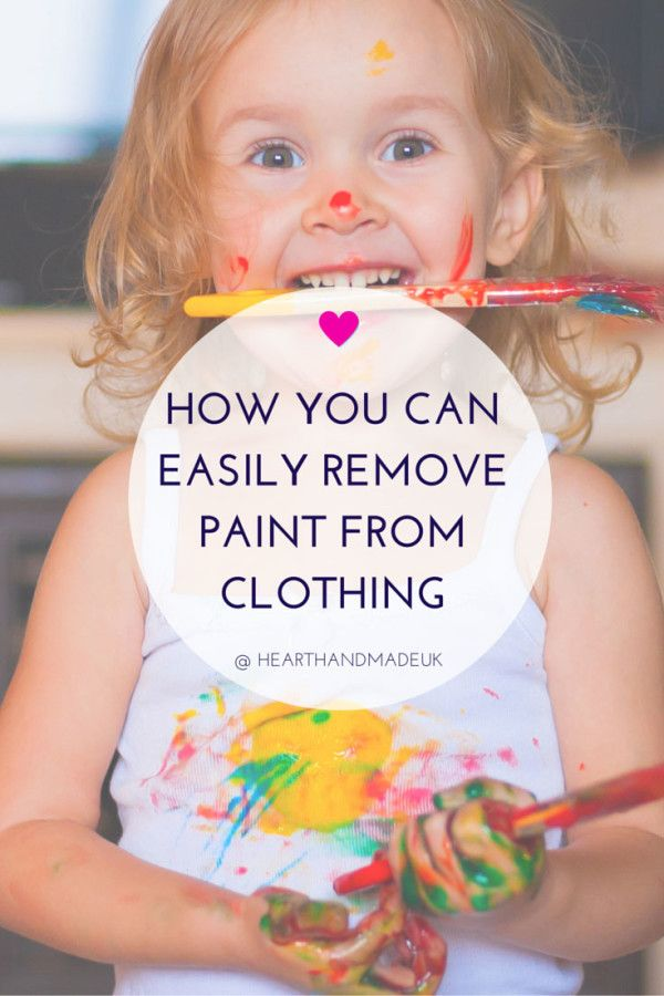 Best 25 Remove Paint From Clothes Ideas On Pinterest
