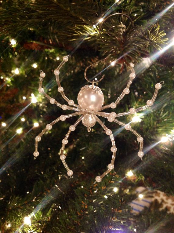 Ukrainian Christmas Spider Ornament - Pearl  The perfect Christmas gift!