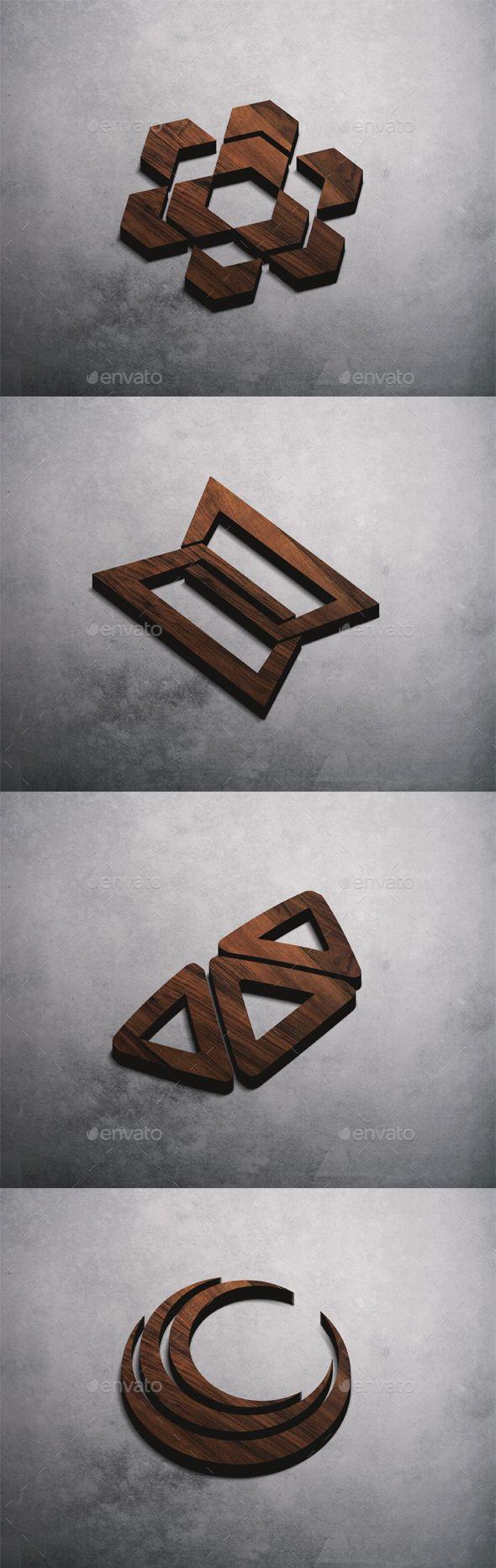 3D Logo Mockup - Product Mock-Ups Graphics
