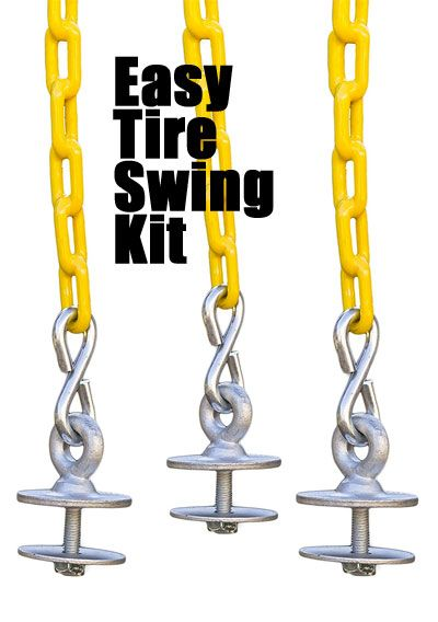 How to Make a Tire Swing: Easy Tire Swing Kit with Eye Bolts and Chain