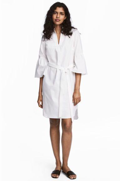 Robe avec ceinture - Blanc - FEMME | H&M FR 1