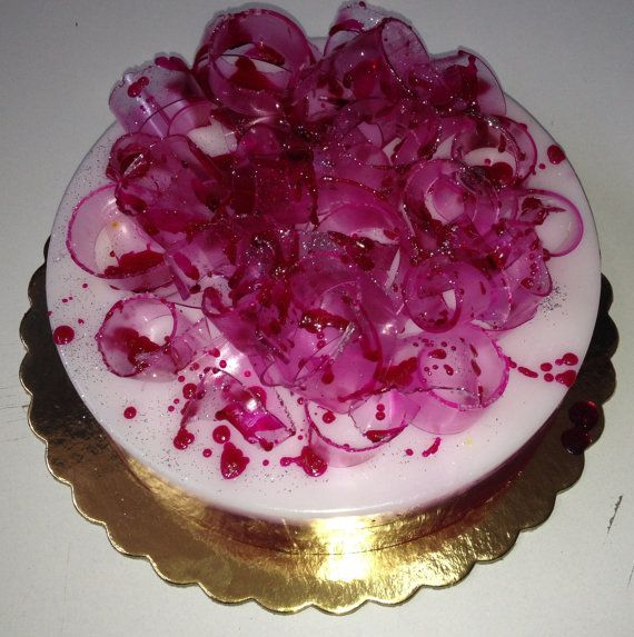 This Violet-Pink Artfully designed Scented Soap Cake can be a very particular, unique Wedding Centerpiece Decor for your Wedding Reception. Can be combined with appropriate Handmade Wedding Bomboniere - Unique Wedding Favors as gifts for your guests, like the ones: https://www.etsy.com/shop/JoannasScentedSoaps?ref=listing-shop2-all-items-count§ion_id=17266083