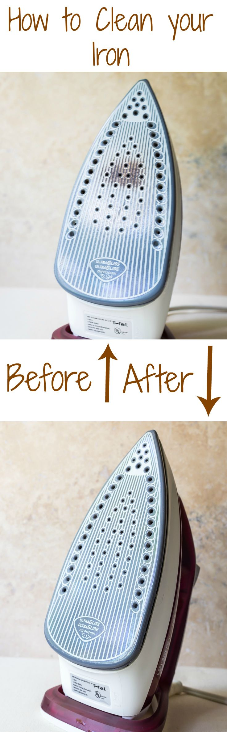 How to Clean an Iron Soleplate at home without special cleaners!