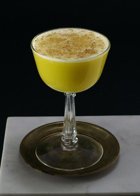 Rum Flip   Tuxedo No.2   rum, egg, simple syrup, nutmeg