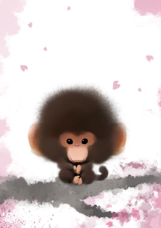 Chinese brush painting Monkey Art Print