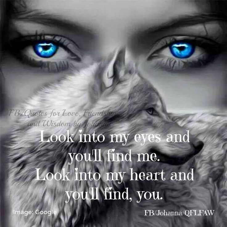 Eyes of women who run with the wolves...