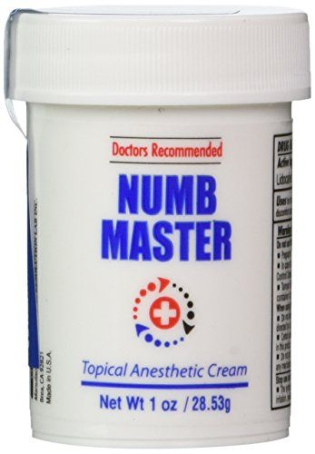 Numb Master 5% Topical Anesthetic Lidocaine Cream 1 Oz, Made in USA, Fast Penetration, Liposmal lidocaine, Non-oily Clinical Resolution Laboratory, Inc. http://www.amazon.com/dp/B00O133T00/ref=cm_sw_r_pi_dp_d19dxb05DMBCH