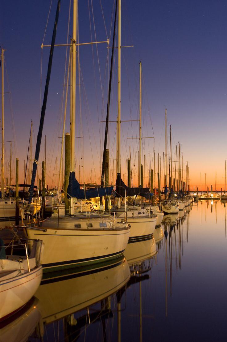 Beautiful sunset at Morning Star Marina on Saint Simons Island, GA www.GoldenIsles.com