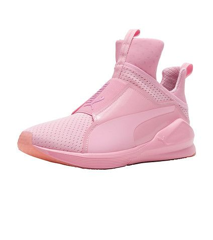 PUMA Women's high top sneaker Fierce Quilted Women's training shoes Bright mesh for breathability Slip on construction Pull tabs for east on/off PUMA formstrip logo Rubber outsole for traction