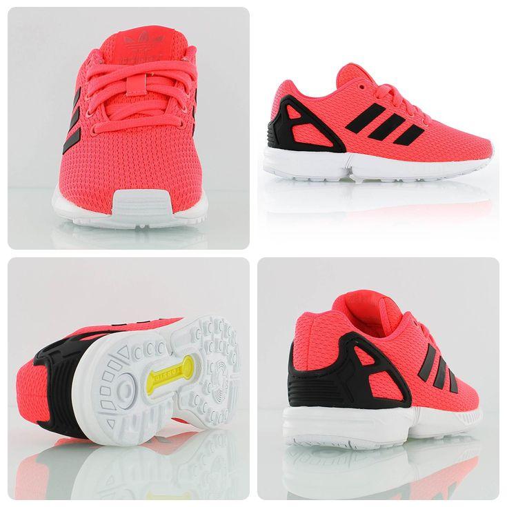 7f726f4a6892 Adidas Originals Kids ZX Flux flash red