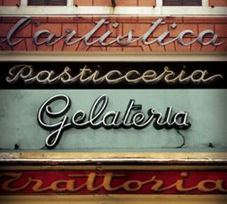 Signage (love the faded colors, too)