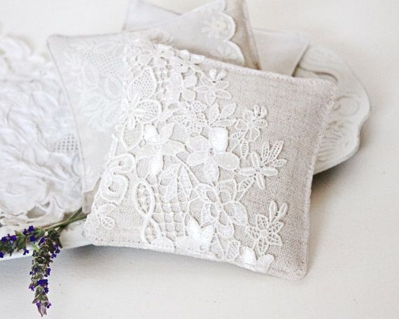 Linen and Lace Lavender Sachet